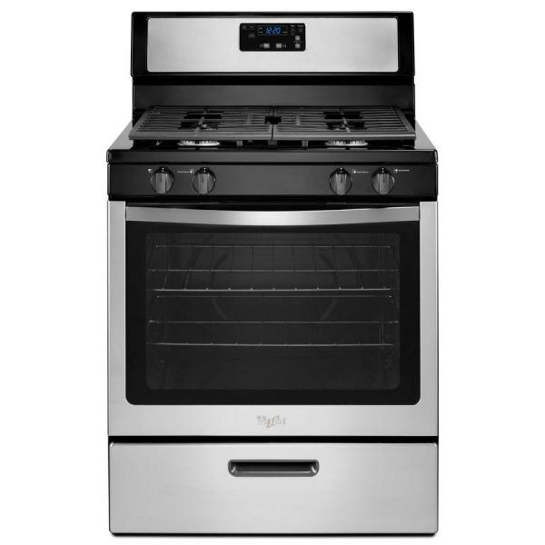 5.1 cu. ft. Gas Range with Under-Oven Broiler in Stainless Steel