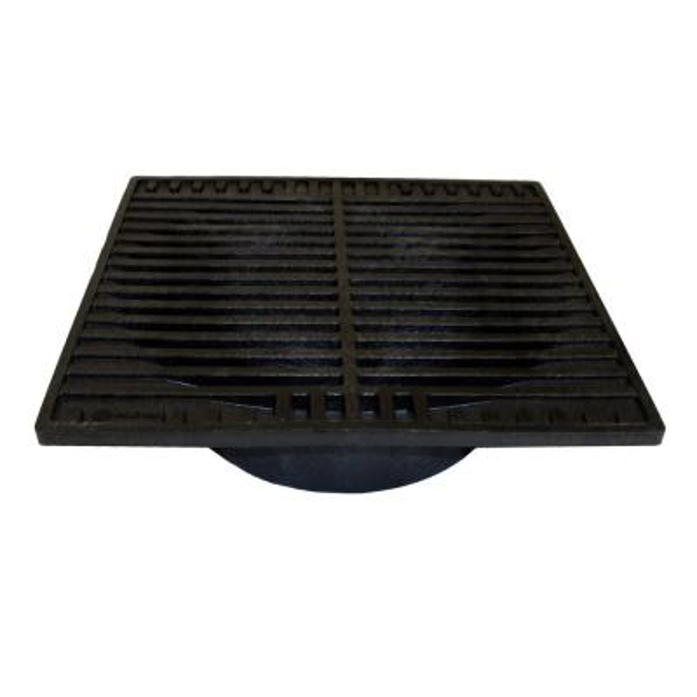 9 in. Plastic Square Drainage Grate in Black