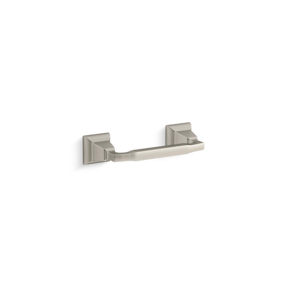 KOHLER Kallan Wall-Mount Toilet Paper Holder in Vibrant Brushed Nickel