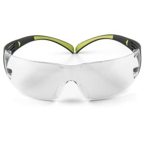 SecureFit 400 Black/Neon Green with Clear Anti-Fog Lenses Safety Glasses