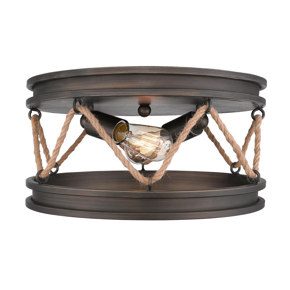 Chatham 2-Light Gunmetal Bronze Flushmount