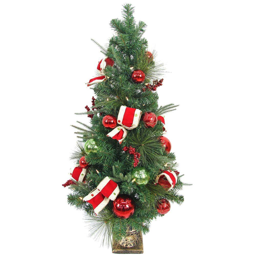 Home Accents Holiday 4 ft. Pre-lit LED Jolly Artificial Christmas ...