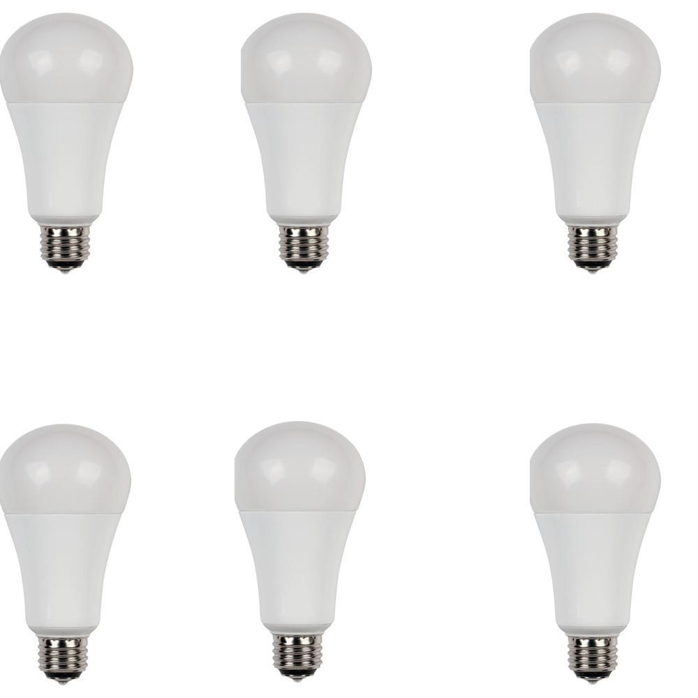 30W/60W/100W Equivalent Soft White Omni A21 3-Way LED Light Bulb (6-Pack)