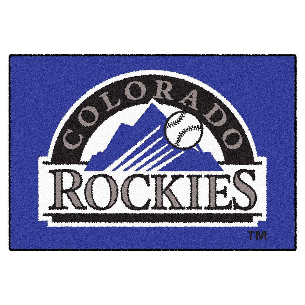Fanmats Colorado Rockies 1 Ft 7 In X 2 Ft 6 In Accent