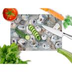 Caroline's Treasures Bunch of Oysters Tempered Glass Large Heat Resistant Cutting Board