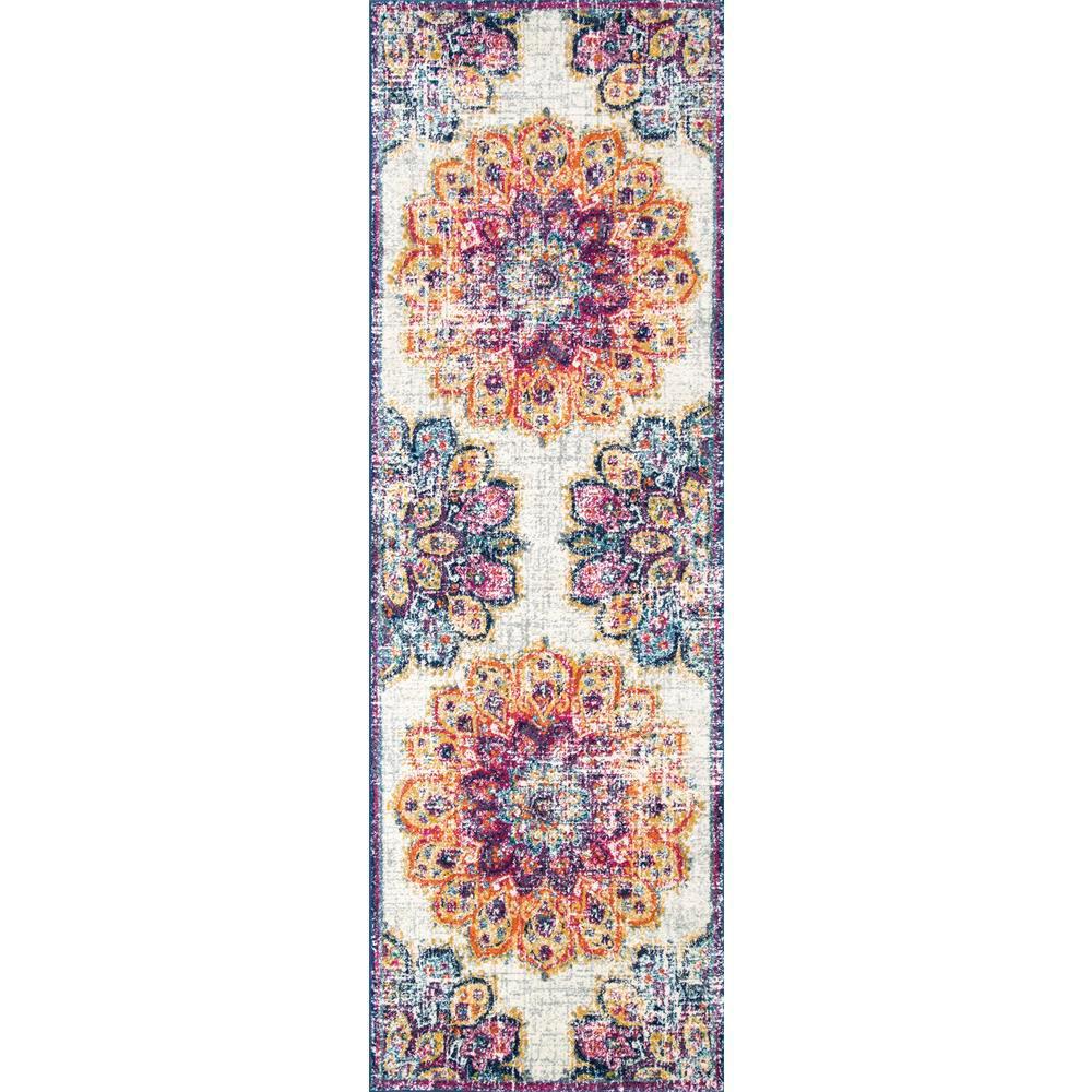 Vintage Floral Kiyoko Multi 3 ft. x 8 ft. Runner Rug