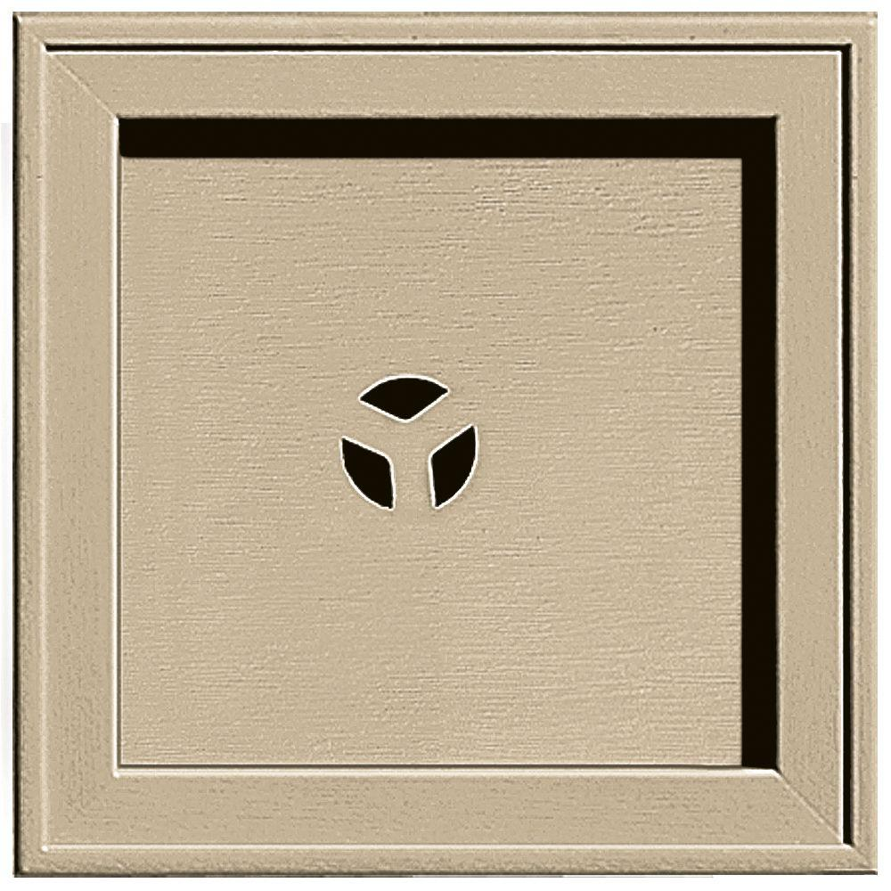 Builders Edge 7.75 in. x 7.75 in. #013 Light Almond Recessed Square Mounting Block