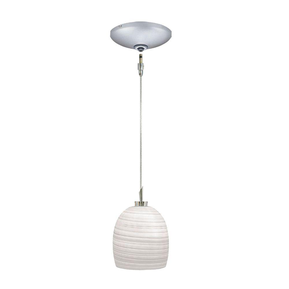 JESCO Lighting Low Voltage Quick Adapt 4-3/40 in. x 103-1/8 in. Gray Pendant and Canopy Kit