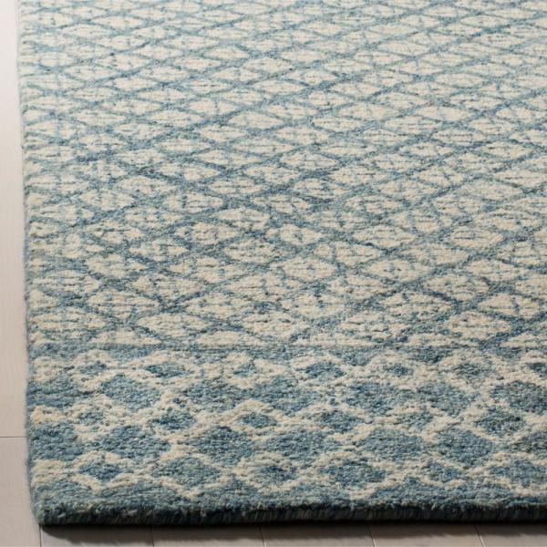 Safavieh Abstract Blue Ivory 9 Ft X 12 Ft Area Rug Abt203a 9 The Home Depot