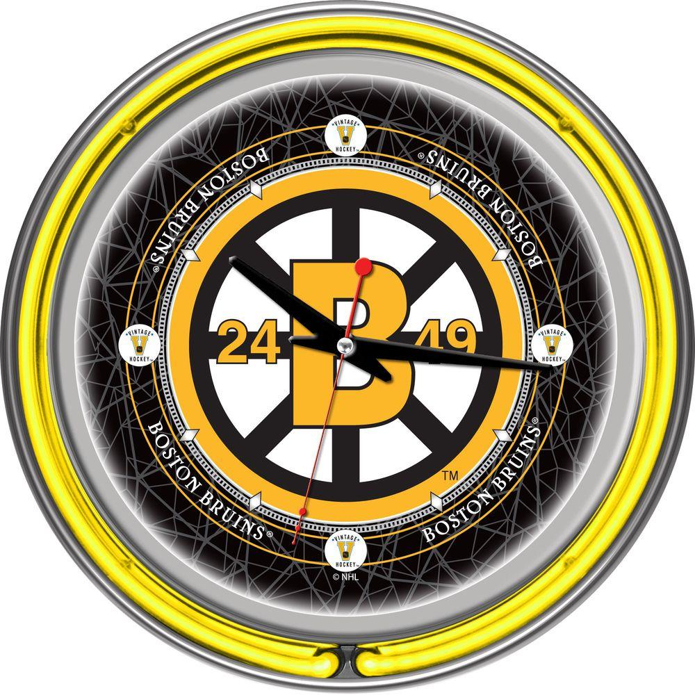 Trademark 14 in united states navy neon wall clock mil1400 usn 14 in vintage boston bruins nhl neon wall clock amipublicfo Choice Image