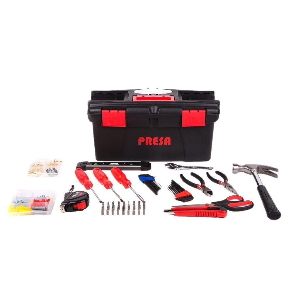 Presa Homeowner's Tool Kit with Hanging Hardware (150-Piece)