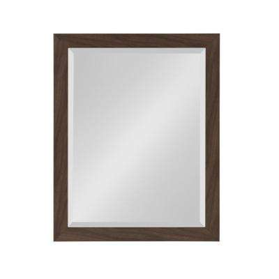 Beatrice Rectangle Walnut Brown Mirror