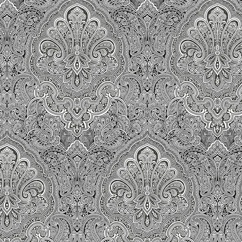 Norwall Ruby Paisley Wallpaper
