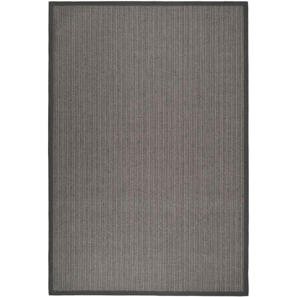 Safavieh natural fiber grey brown grey 6 ft x 9 ft area for Grey and tan rug