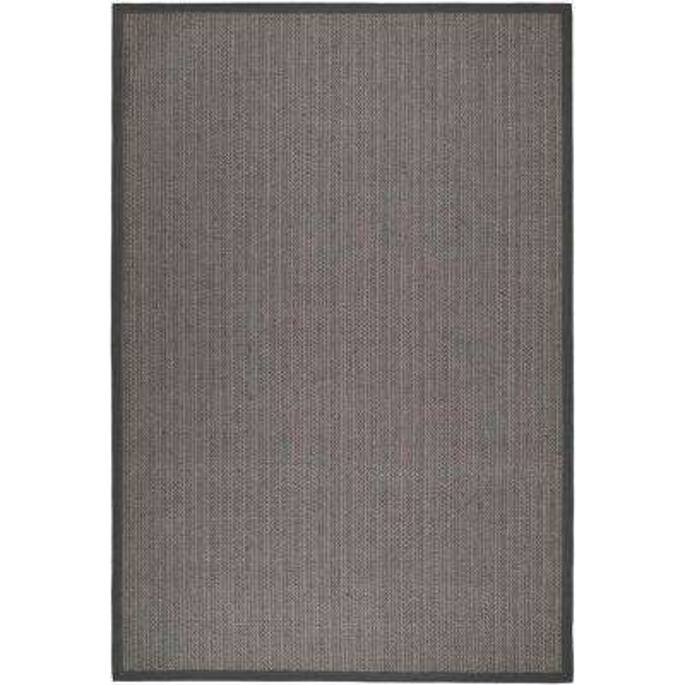 Natural Fiber Grey Brown/Grey 6 ft. x 9 ft. Area Rug