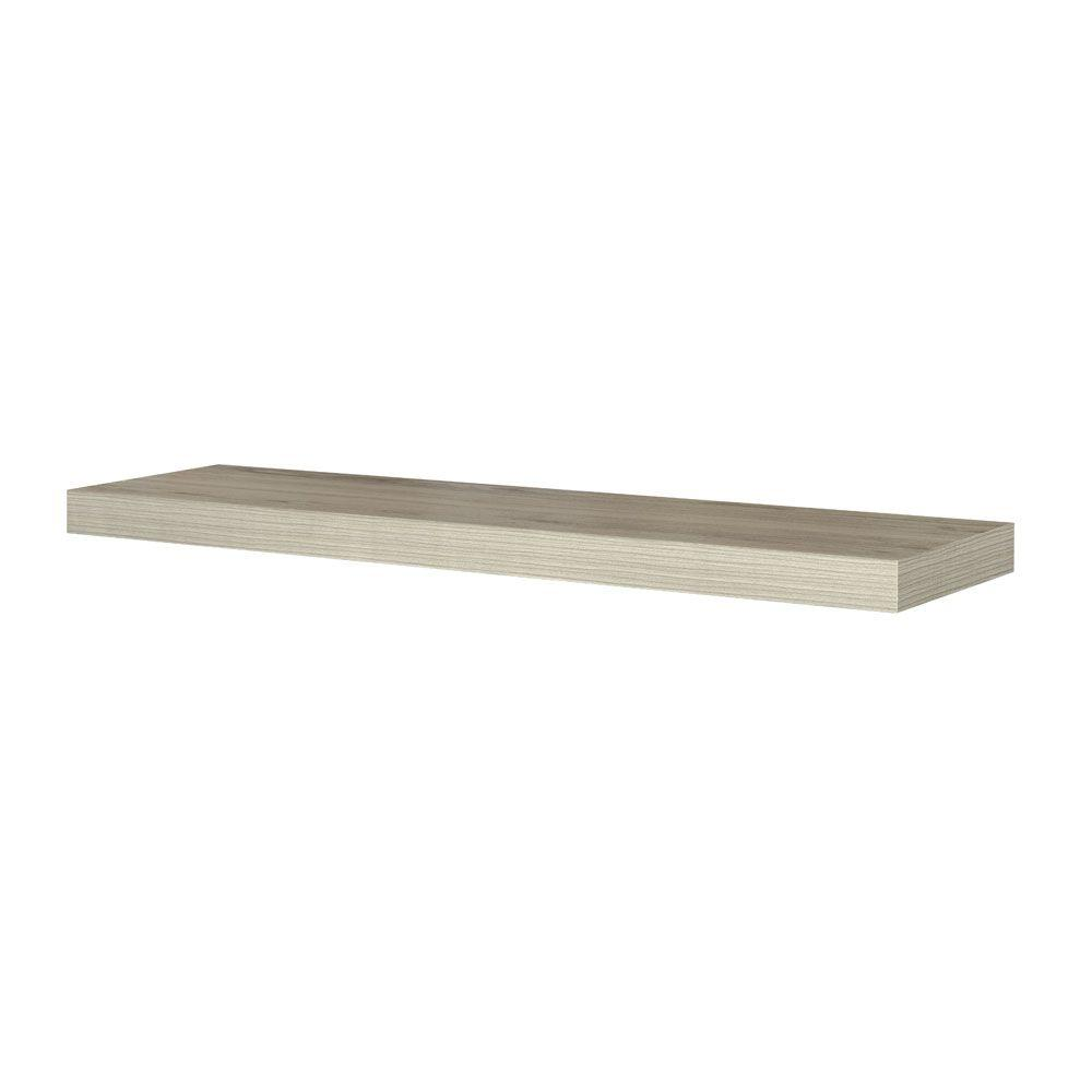 Home Decorators Collection Chicago 10 in. W x 42 in. D Floating Grey Oak Decorative Ledge