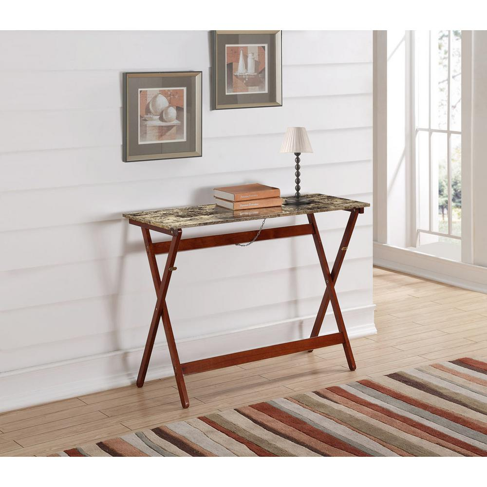 linon home decor tray table set faux marble linon home decor walnut and tile buffet 430337til01u the 13720