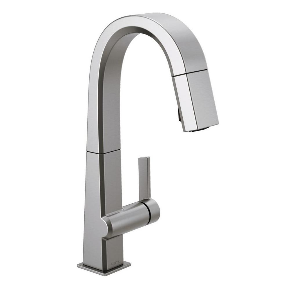Delta Pivotal Single Handle Bar Faucet With Magnatite Docking In