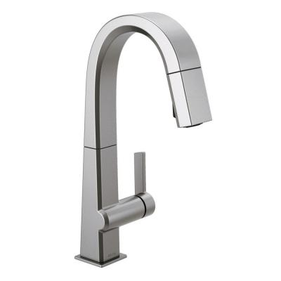 Pivotal Single-Handle Bar Faucet with MagnaTite Docking in Arctic Stainless