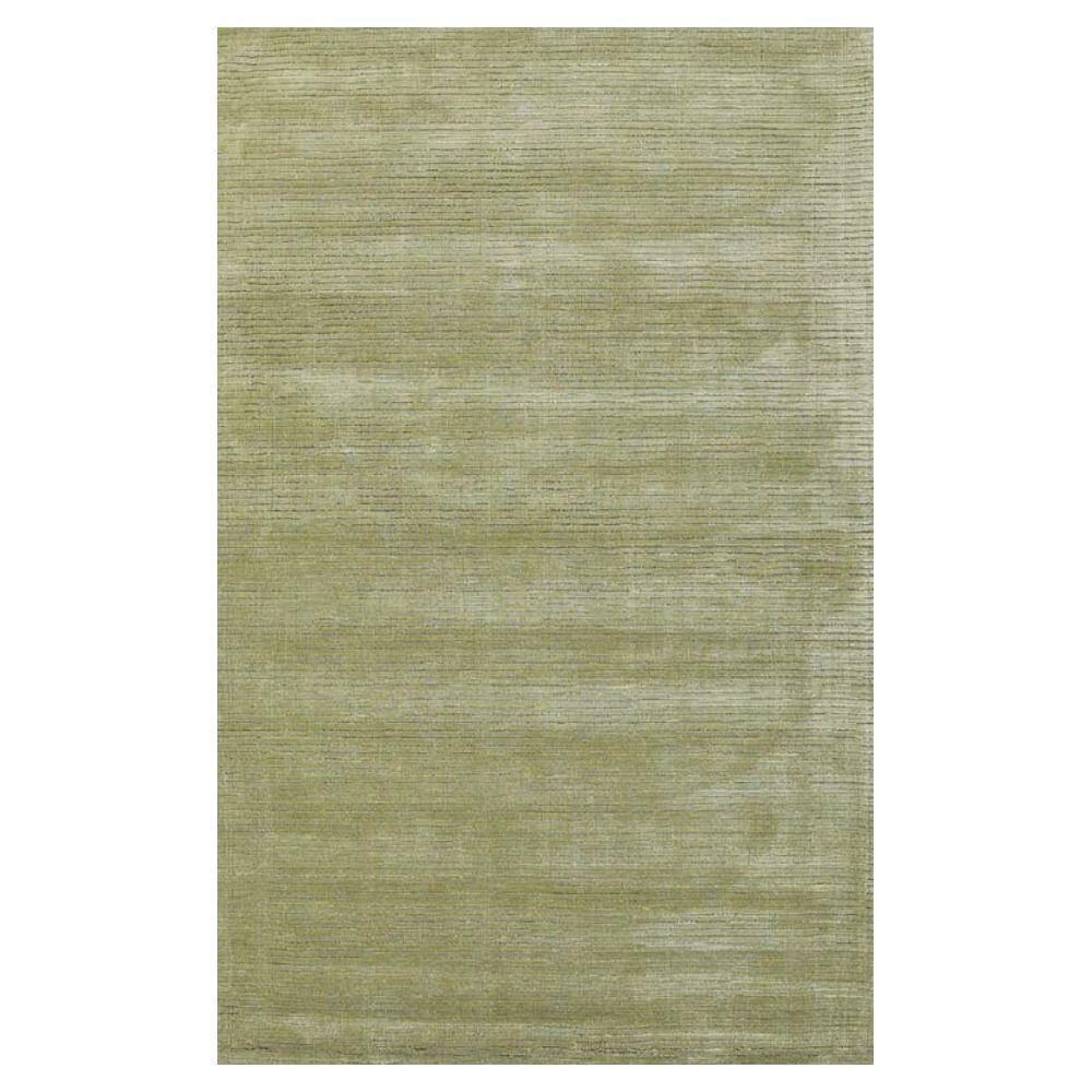 Kas Rugs Solid Texture Sage 3 ft. 3 in. x 5 ft. 3 in. Area Rug