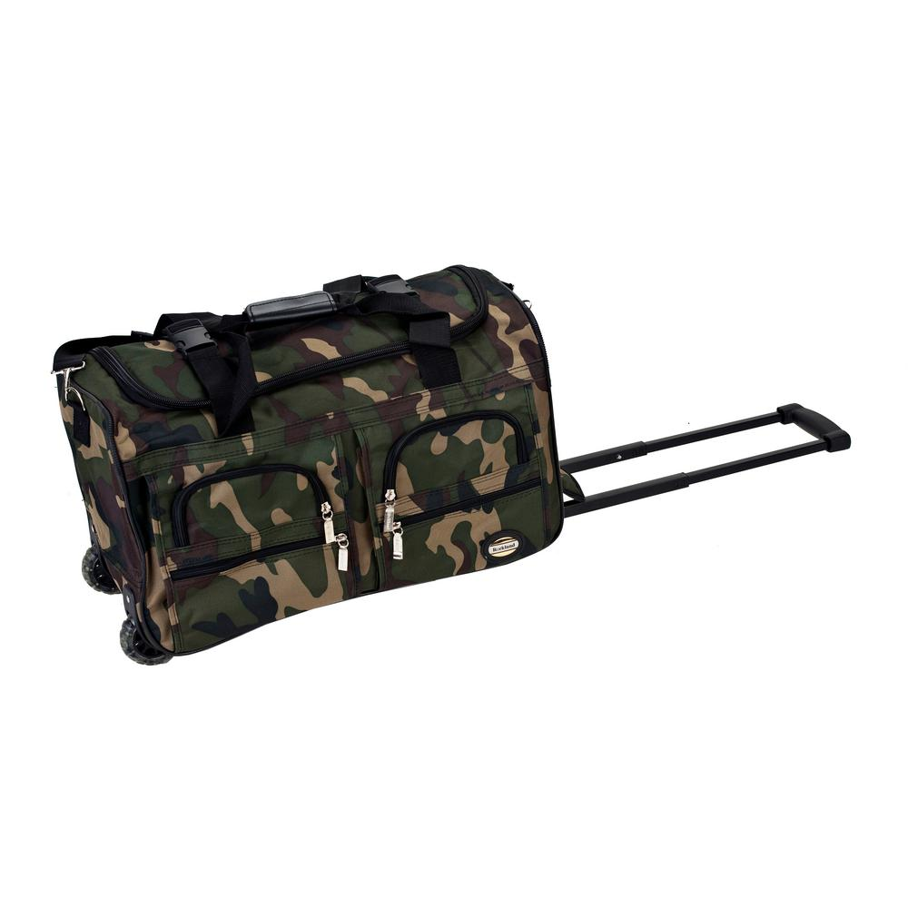 Rockland Voyage 22 in. Rolling Duffle Bag, Camo