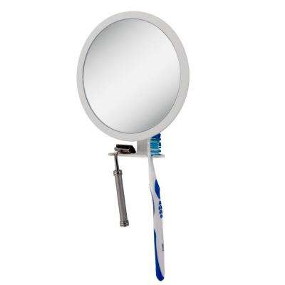 7 in. x 9 in. 5X-1X Adjustable Magnification Fogless Mirror in White
