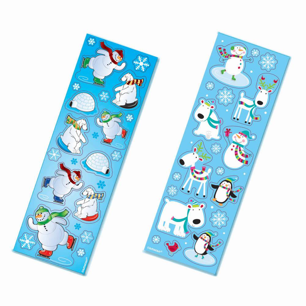 Winter Fun Christmas Stickers (8-Count 11-Pack)