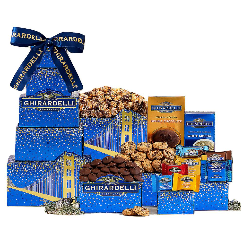 Ghirardelli Chocolate Gift Tower  sc 1 st  The Home Depot & Wine Country Gift Baskets Ghirardelli Chocolate Gift Tower-539 - The ...