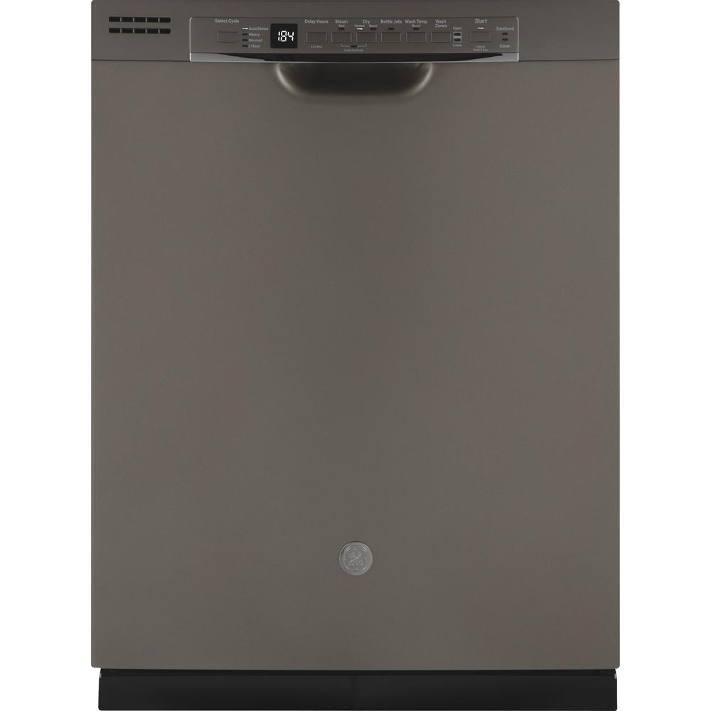 GE 24 in. Front Control Built-In Tall Tub Dishwasher in Slate with Third Rack, Fingerprint Resistant, 50 dBA