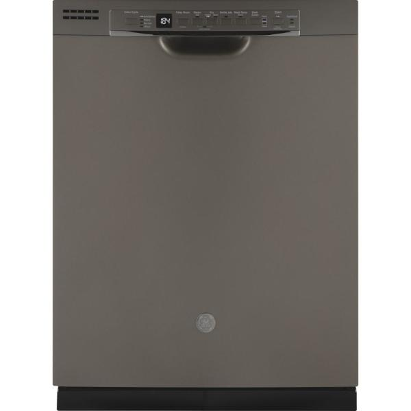 24 in. Front Control Built-In Tall Tub Dishwasher in Slate with Stainless Interior Door and 3rd Rack, 50 dBA