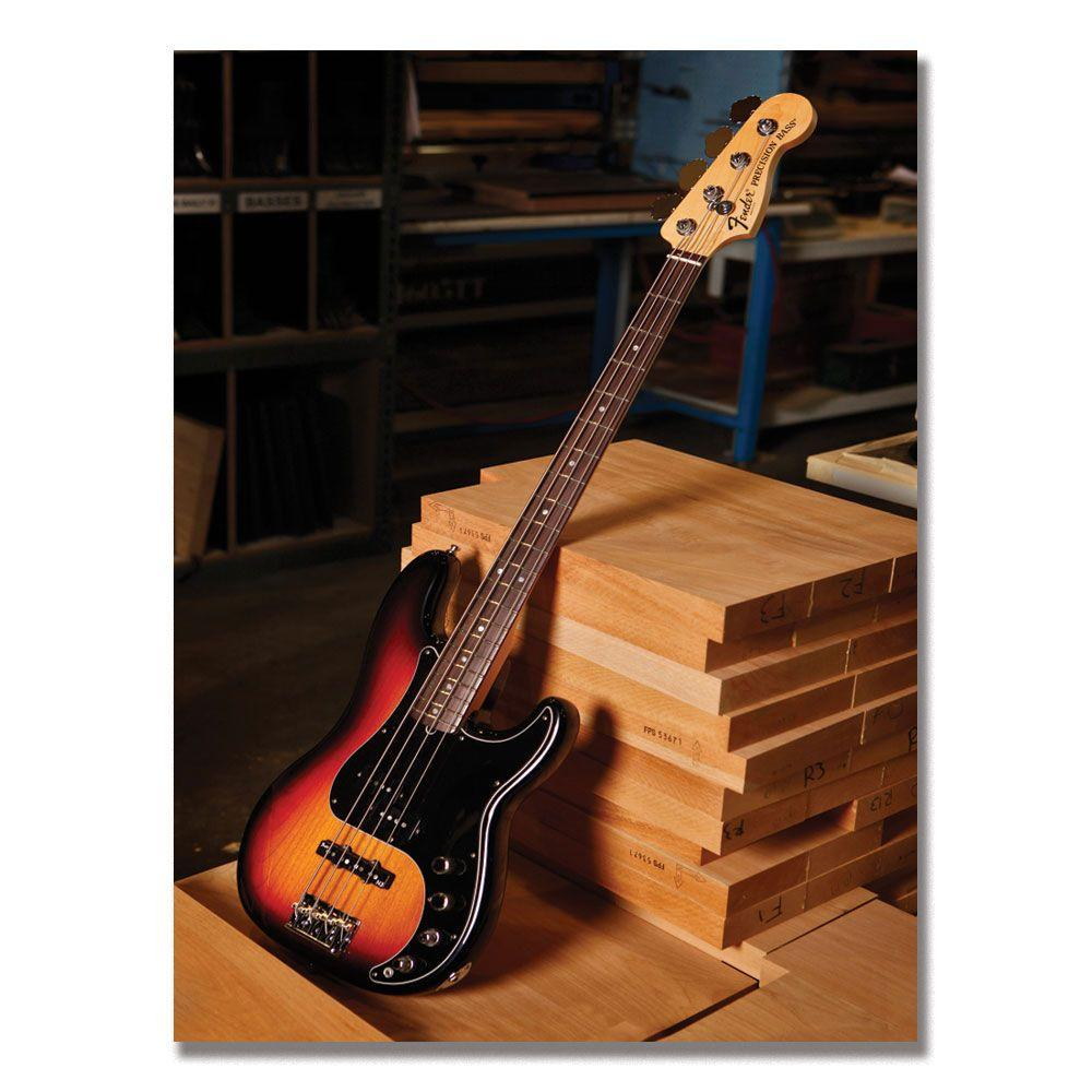 Trademark Fine Art 24 in. x 32 in. Fender Bass Workshop Canvas Art