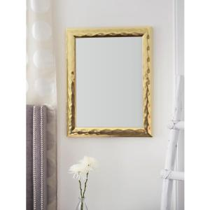 Blue Harbor Collection 28.75 inch x 22.75 inch Gold Metallic Impressions Mirror by Blue Harbor Collection