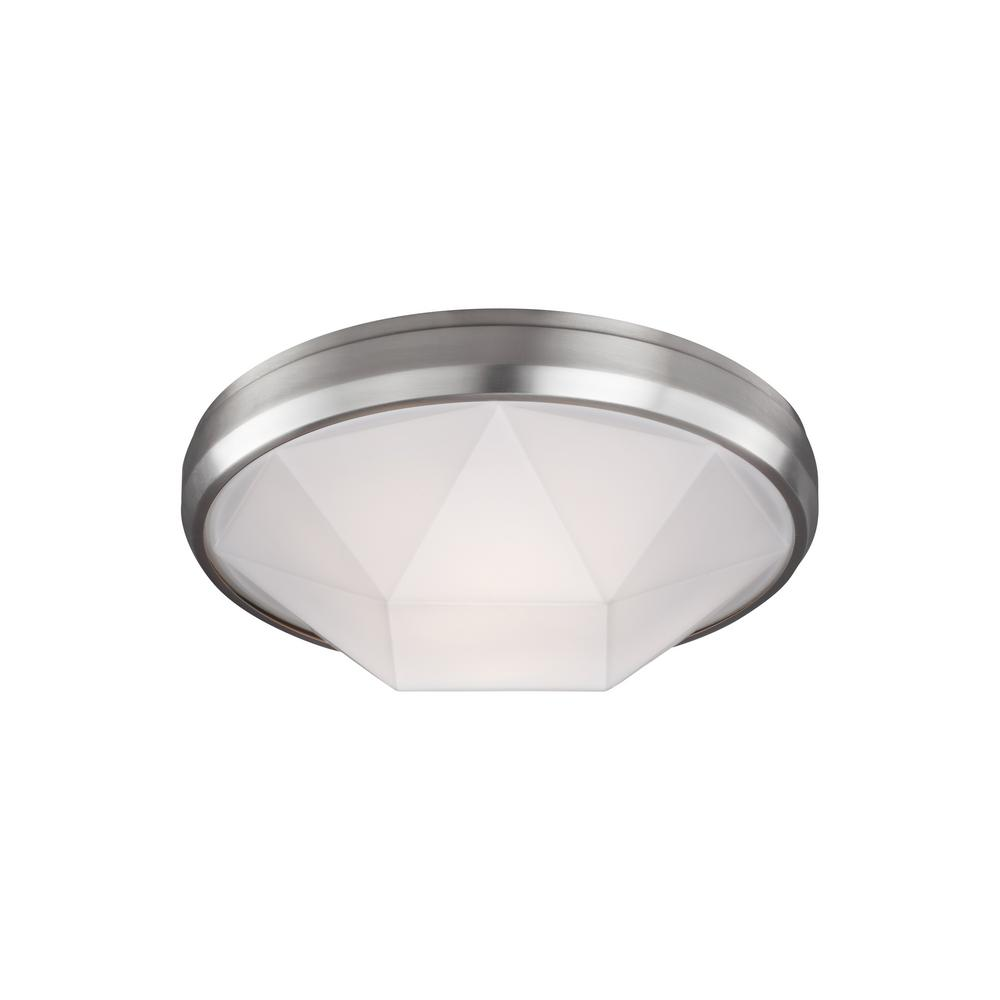 Gillis 2-Light Satin Nickel Flushmount