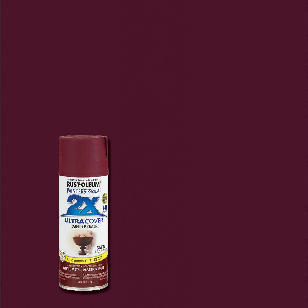 12 oz. Satin Claret Wine General Purpose Spray Paint
