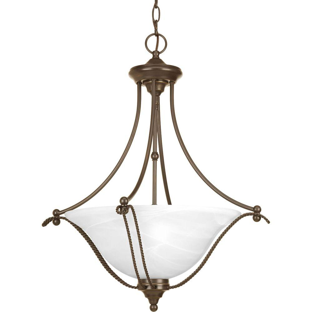 Progress Lighting Avalon Collection 3-Light Antique Bronze Foyer Pendant