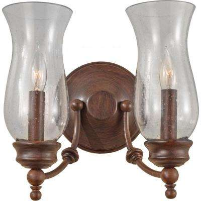 Pickering Lane 2-Light Heritage Bronze Vanity Light