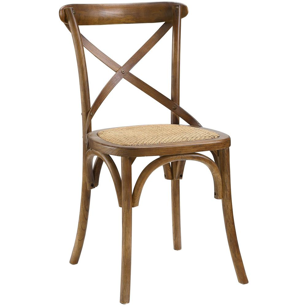 Gear Walnut Dining Side Chair