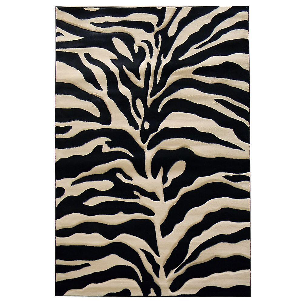 Zebra Sculpture Area Rug