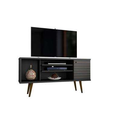 Liberty 53.14 in. Black 5-Shelf TV Stand