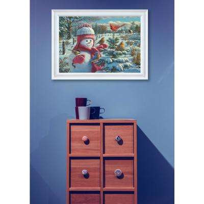 """15 in. x 11 in. """"Snow Baby Grace"""" by Kim Norlien Printed Framed Wall Art"""