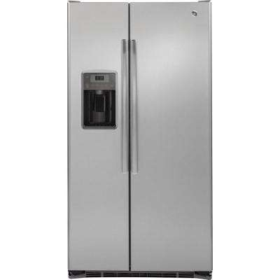 35.75 in. W 21.9 cu. ft. Side by Side Refrigerator in Stainless Steel, Counter Depth