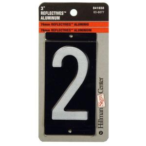3 in. Aluminum Reflective Number 2