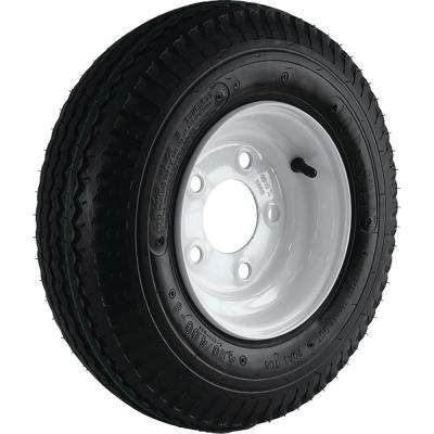 570-8 K353 715 lb. Load Capacity White 8 in. Bias Tire and Wheel Assembly