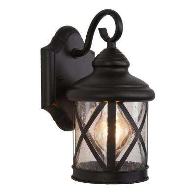 1-Light Exterior Lantern in Black Finish Small Size