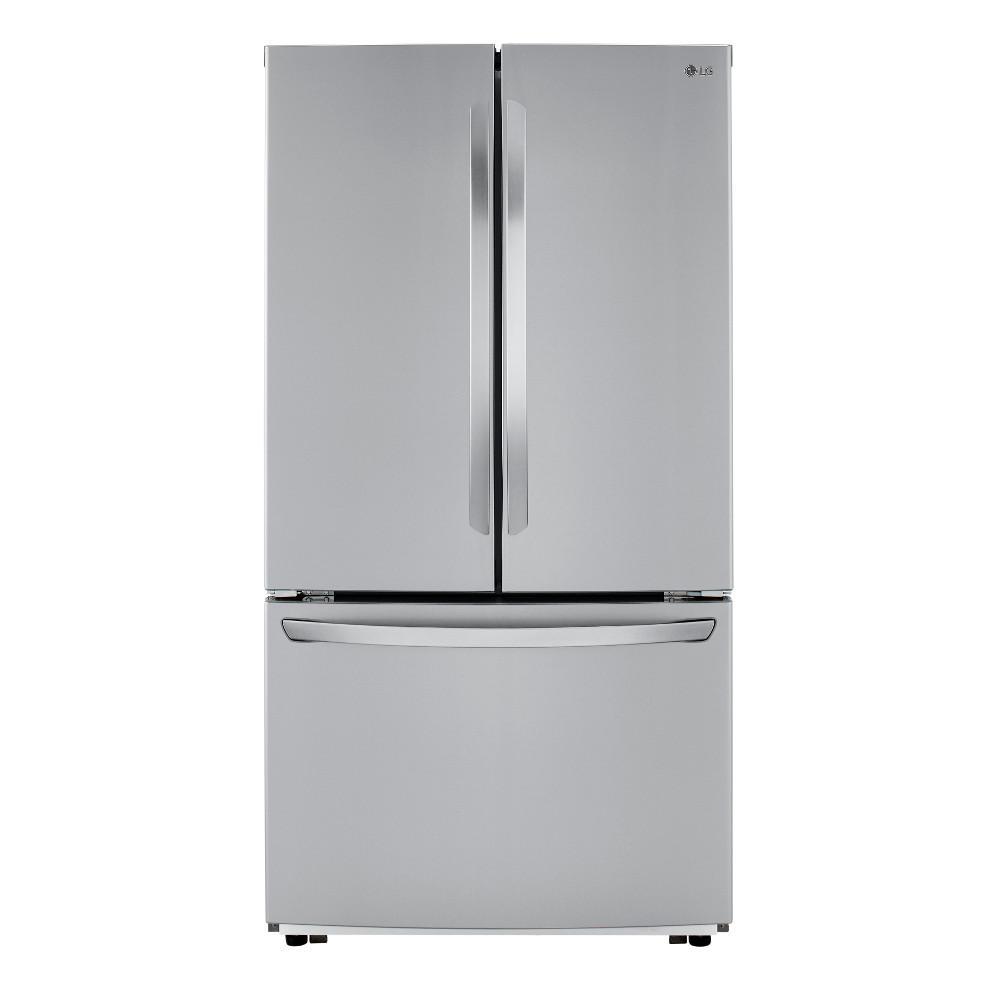 23 cu ft French Door Refrigerator with InstaView Door-in-Door in PrintProof Stainless Steel Counter Depth