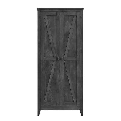 Brownwood Rustic Gray 31.5 in. Wide Storage Cabinet