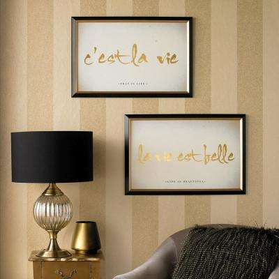 "24 in. x 16 in. ""C'est La Vie""  Printed Framed Wall Art"