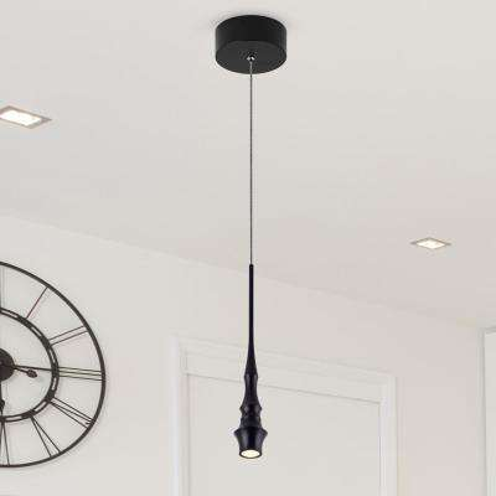 Polaris VMP26610BL 7-Watt Black Integrated LED Pendant