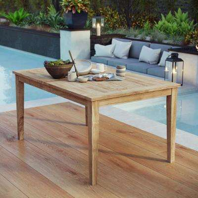 Marina Teak Outdoor Dining Table in Natural