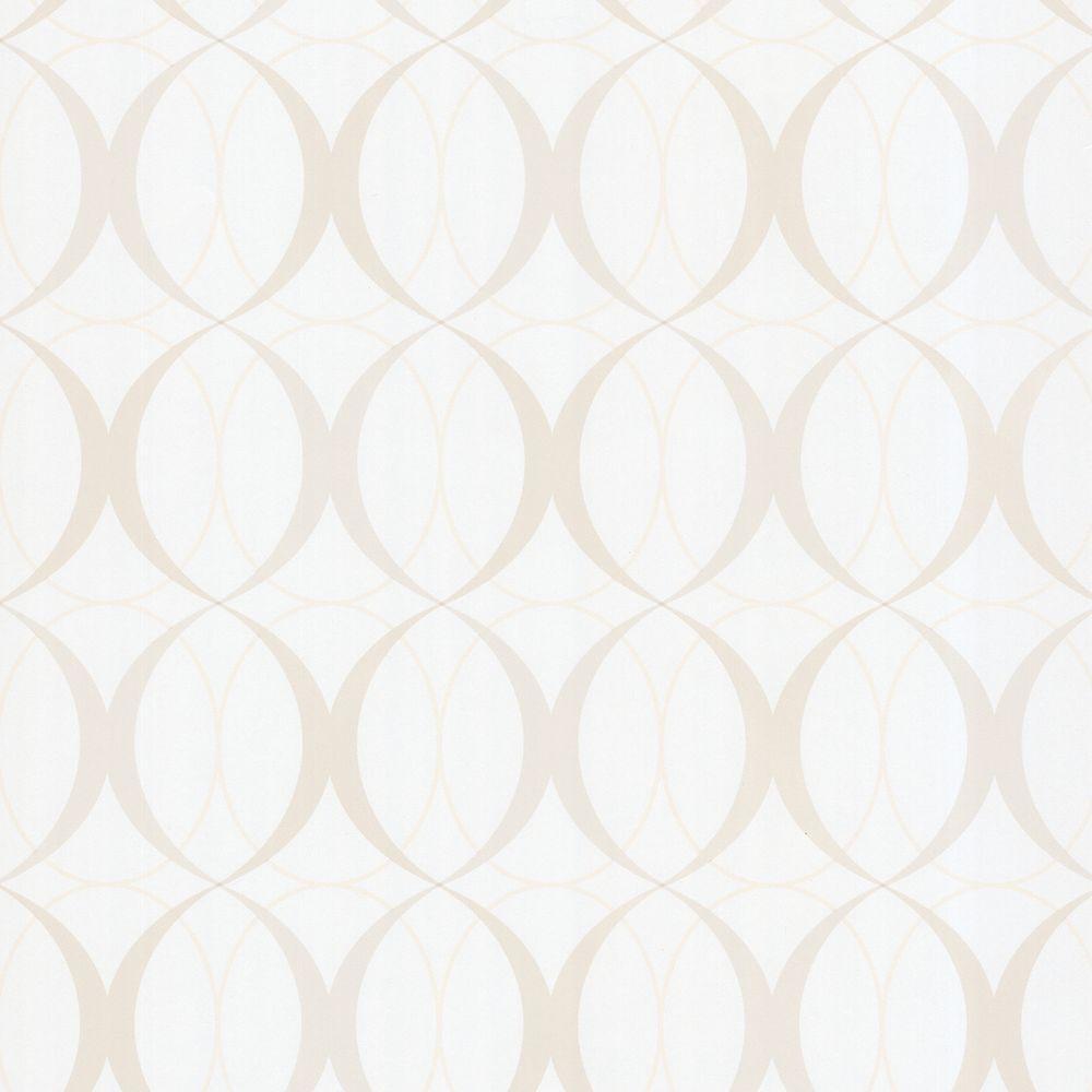 Circulate White Retro Orb Wallpaper